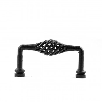 <PRE>6 Drawer Handle Cabinet Pull Birdcage Black Wrought Iron 5inch </PRE>zoom5
