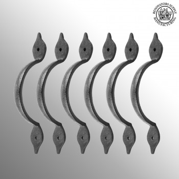 <PRE>6 Spear Door or Drawer Pull Black Wrought Iron 5 1/2&quot; </PRE>