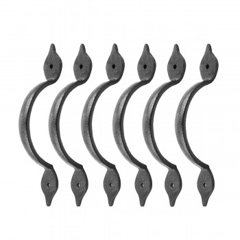 <PRE>6 Spear Door or Drawer Pull Black Wrought Iron 5 1/2inch </PRE>zoom1