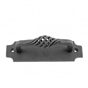<PRE>6 Door or Drawer Pull Birdcage Black Wrought Iron 5 1/2inch </PRE>zoom6