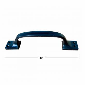 spec-<PRE>4 Door Pull Black Wrought Iron 6&quot; </PRE>