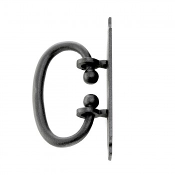 "<PRE>2 Cabinet or Drawer Pull Black Wrought Iron 5 1/4inch x 1 9/16"" </PRE>zoom4"