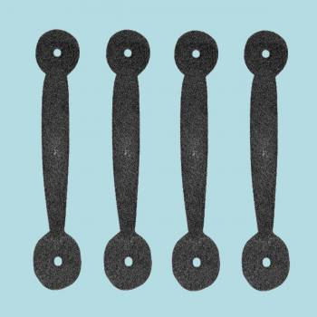4 Door or Drawer Pull Black Wrought Iron Bean 4 34 x 1 Door Pull Door Pulls
