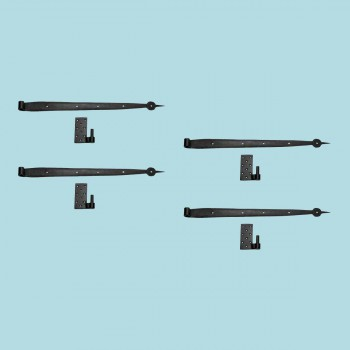 <PRE>4 Pintle Bean Door Hinge Black Wrought Iron 24 1/2inch H </PRE>zoom2