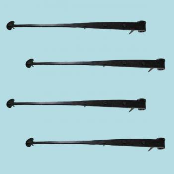 <PRE>4 Bean Strap Pintle Door Hinge Black Hand Forged 16 1/4inch </PRE>zoom2