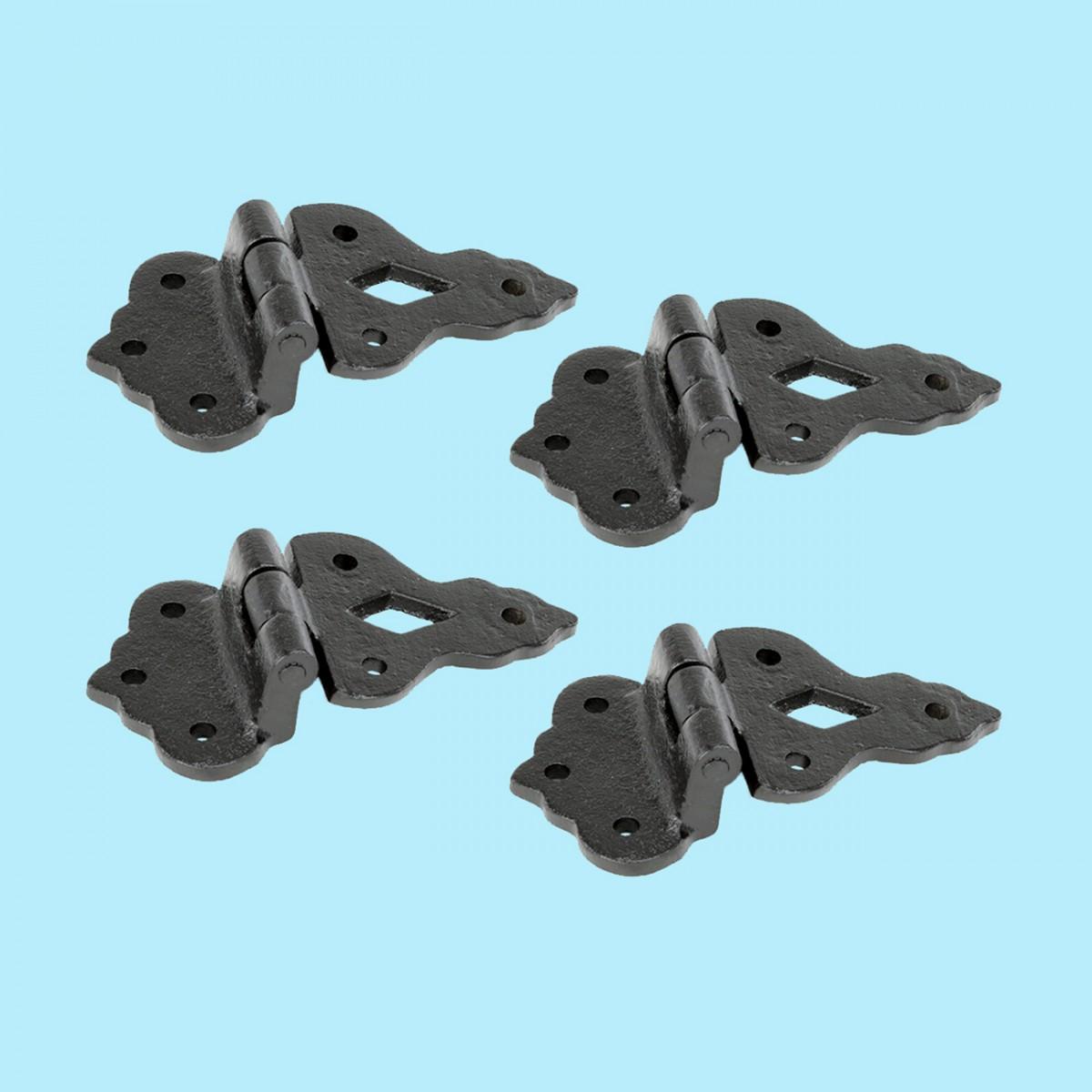Hoosier Black Iron Cabinet Hinge 3/8 Offset 3 1/2 W Pack Of 4