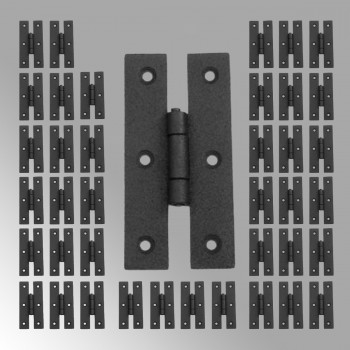 40 Cabinet Hinge Black Wrought Iron Hinge H Flush 3 H