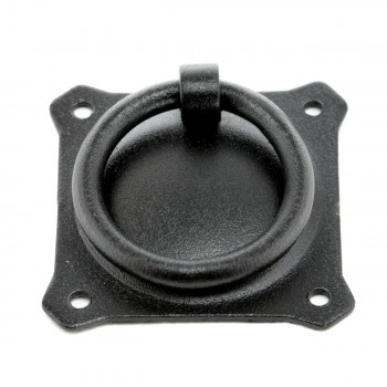 Black Iron Ring Pull Cabinet Hardware 2in Ring Pulls Cabinet Hardware Cabinet Door Ring Pulls Wrought Iron Door Pulls