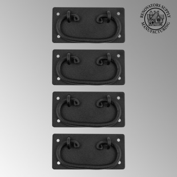 <PRE>4 Cabinet Drawer Door Pull Black Wrought Iron Mission 4&quot;  </PRE>