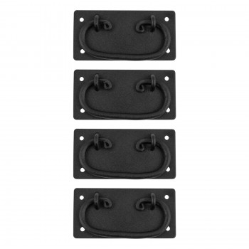 4 Cabinet Drawer Door Pull Black Wrought Iron Mission 4