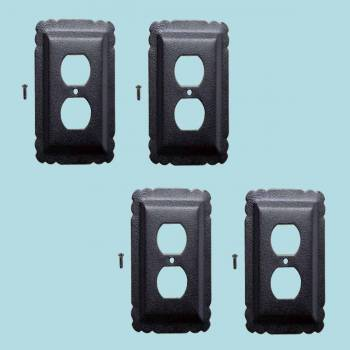 4 Switchplate Black Steel Outlet RSF Switch Plate Wall Plates Switch Plates