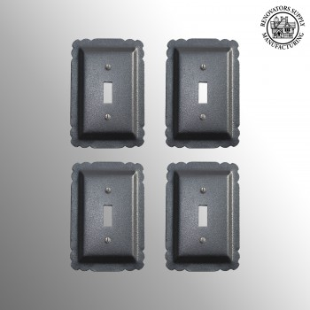 <PRE>Black Steel Switchplates Single Toggle Rustproof Set of 4</PRE>