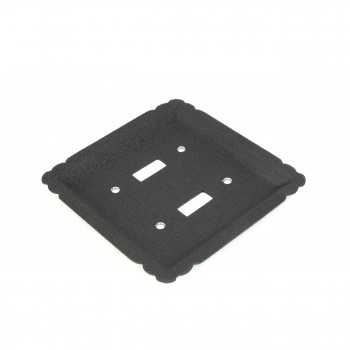 4 Switchplate Black Steel Double Toggle Switch Plate Wall Plates Switch Plates