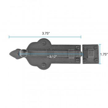 "spec-<PRE>4 Slide Bolts Black Wrought Iron 4"" Wide Set of 4 </PRE>"
