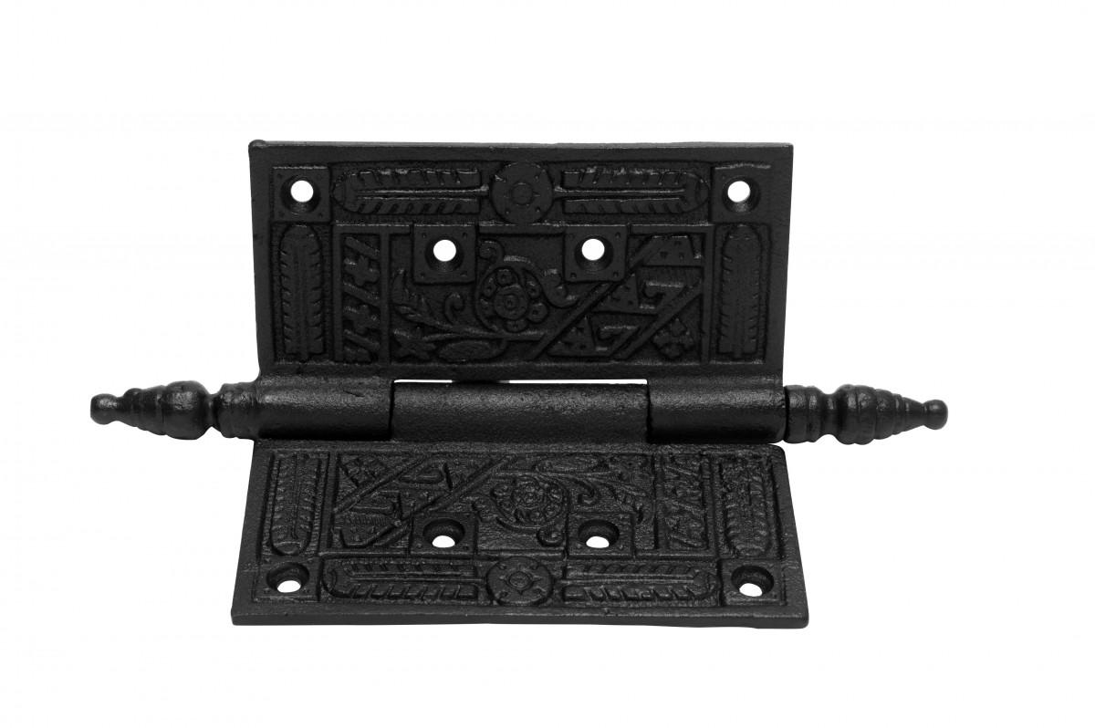 Wrought Iron Butt Hinge Black Victorian Steeple Tip Pack of 3 Door Hinges Door Hinge