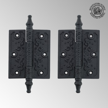 <PRE>2 Victorian Door Butt Hinge Steeple Tip Wrought Iron 3inch W </PRE>zoom2