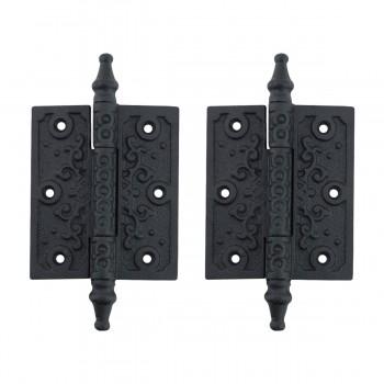 2 Victorian Door Butt Hinge Steeple Tip Wrought Iron 3 W Door Hinges Door Hinge