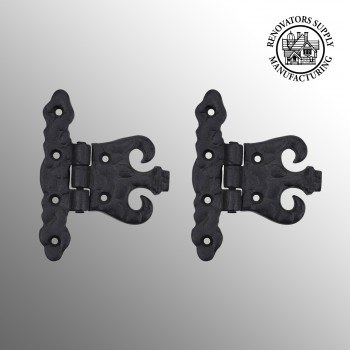 Black RSF Iron DoorGate Hinge Set Of 2 cabinet hinges black cabinet door hinges black iron hinges