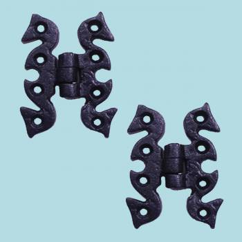 <PRE>2 Door or Cabinet Surface Hinge Black Wrought Iron 2 3/4 H </PRE>zoom2