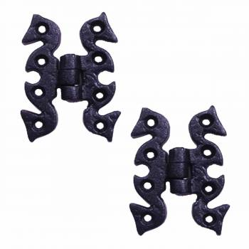 2 Door or Cabinet Surface Hinge Black Wrought Iron 2 34 H Door Hinges Door Hinge Solid Brass Hinge