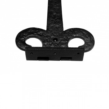2 Wrought Iron Door Strap Hinge Fleur De Lis 18 Long vintage rustic  repro metal traditional old style black french antique heavy decor decorative rustic victorian style