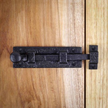 <PRE>2 Black Wrought Iron  Cabinet or Door Slide Bolt 4inch W </PRE>zoom13