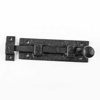 2 Black Wrought Iron  Cabinet or Door Slide Bolt 4 W Door Bolt Door Bolts Slide Bolts