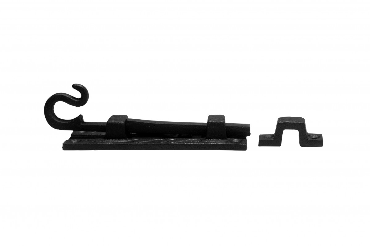 2 Black Wrought Iron Cabinet or Door Fancy Slide Bolt 4 34 Door Bolt Door Bolts Slide Bolts