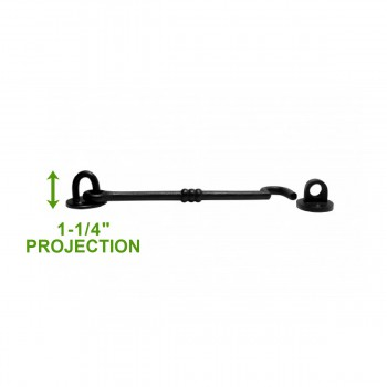 spec-<PRE>6 Cabin Hook Eye Shed Gate Door Latch Locker Holder 7.5&quot; Iron </PRE>