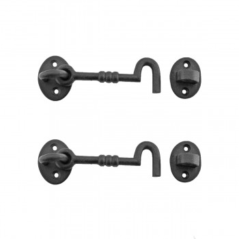 2 Cabin Hook Eye Shed Gate Door Latch Locker Holder 4 Iron Hooks Decorative Hook Coat Hook