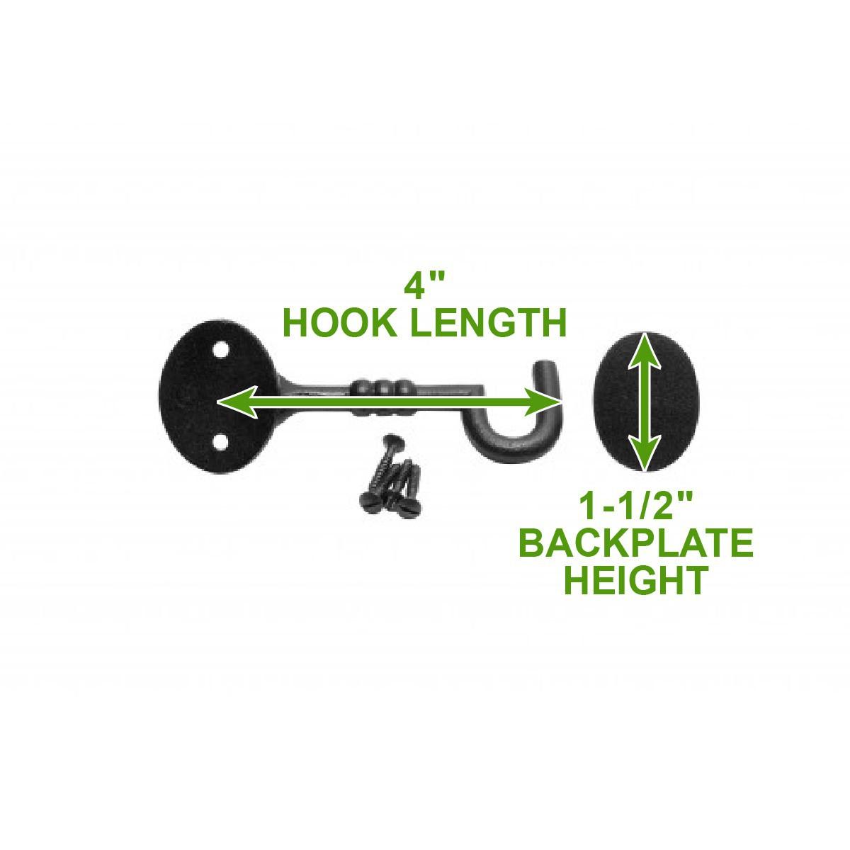 """<PRE>2 Cabin Hook Eye Shed Gate Door Latch Locker Holder 4"""" Iron </PRE>"""