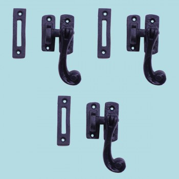 <PRE>3 Sash Window Door Lock Black Wrought Iron 4 1/2inch </PRE>zoom2