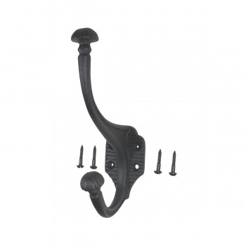 6 Hat Coat Hook Wrought Iron Black Hooks Decorative Hook Coat Hook