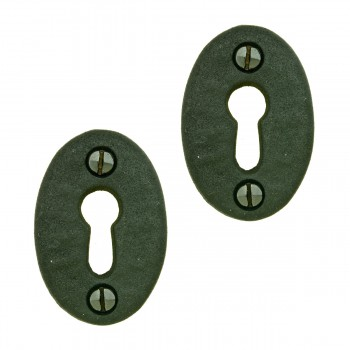 Wrought Iron Keyhole Cover Escutcheon Replacement 134 H Pack of 2