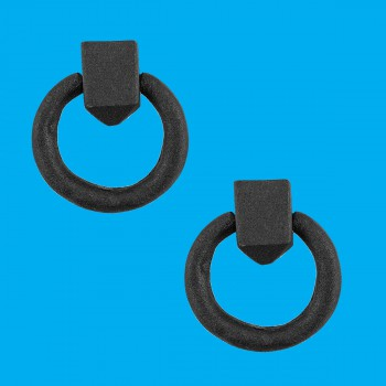 <PRE>Cabinet Pull Wrought Iron Ring Pull Door Black Rustproof 1-7/8 in Dia Set of 2</PRE>zoom2