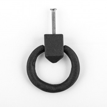 <PRE>Cabinet Pull Wrought Iron Ring Pull Door Black Rustproof 1-7/8 in Dia Set of 2</PRE>zoom3