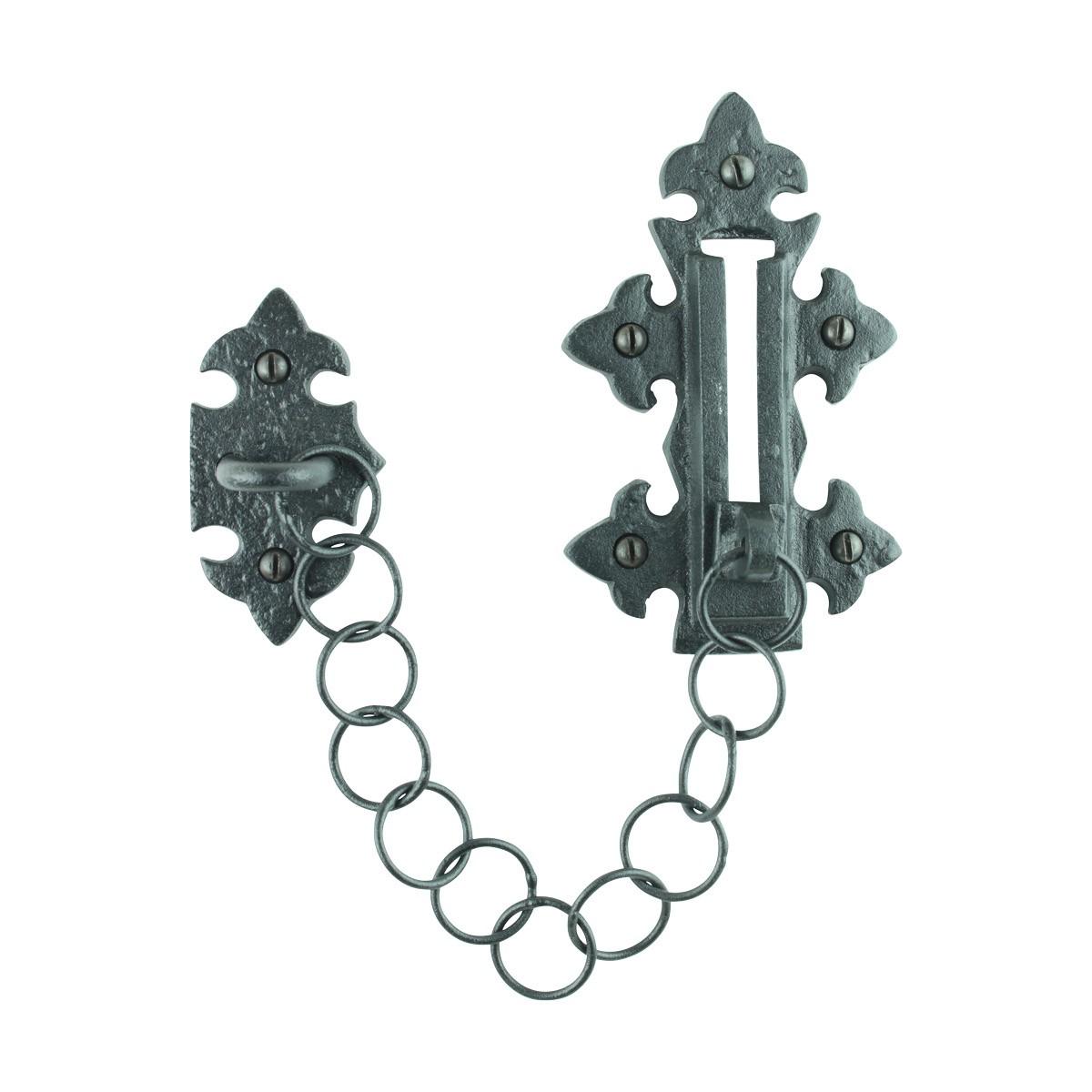 4 Chain Door Locks Black Wrought Iron Rustproof Set of 4 Door Bolt Door Bolts Slide Bolts
