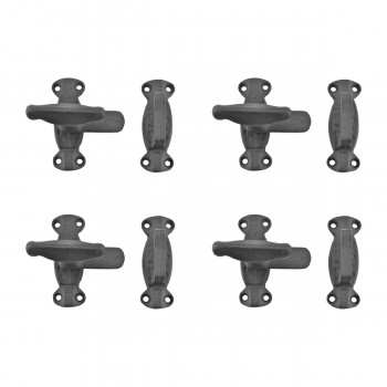 4 Latch Black Wrought Iron Cupboard Latch