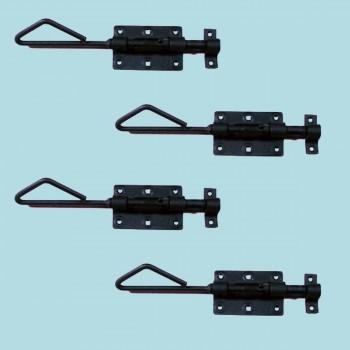 <PRE>4 Wrought Iron Slide Bolt Black Rustproof Lock </PRE>zoom2