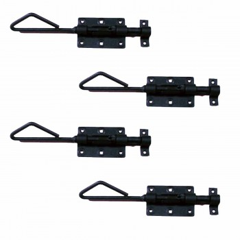 <PRE>4 Wrought Iron Slide Bolt Black Rustproof Lock </PRE>zoom1