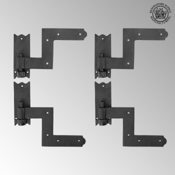 <PRE>Black RSF Iron Shutter Hinges Rustproof Finish 2 Pairs</PRE>zoom2