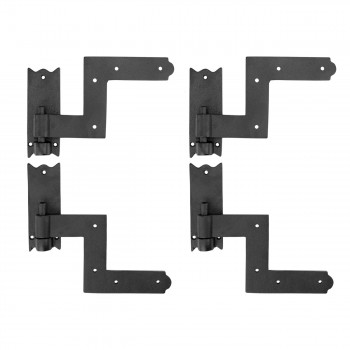 Black RSF Iron Shutter Hinges Adjustable Rustproof Finish 2 Pairs