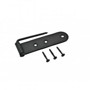 Shutter Strap Hinge Black Steel Galvanized Pack of 2