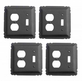 4 Switchplate Black Wrought Iron ToggleDuplex Switch Plate Wall Plates Switch Plates