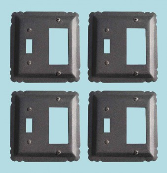 <PRE>4 Switchplate Black Wrought Iron GFI/Toggle 5 1/4inch </PRE>zoom2