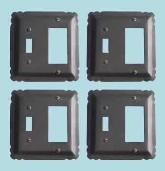 4 Switchplate Black Wrought Iron GFIToggle 5 14 Switch Plate Wall Plates Switch Plates