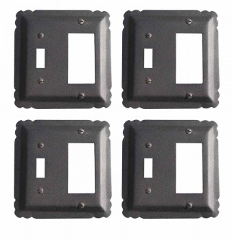 4 Switchplate Black Wrought Iron SWITCH COVER, GFI/SWITCH 5 1/4 in.