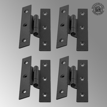 "<PRE>Cast Iron Cabinet H Hinge Style  3 1/2inch H 3/8"" Offset Set of 4 </PRE>zoom2"