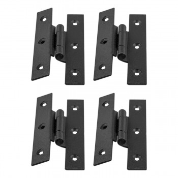 4  H Hinge Wrought Iron Black 3 1/2 in. H 3/8 Offset