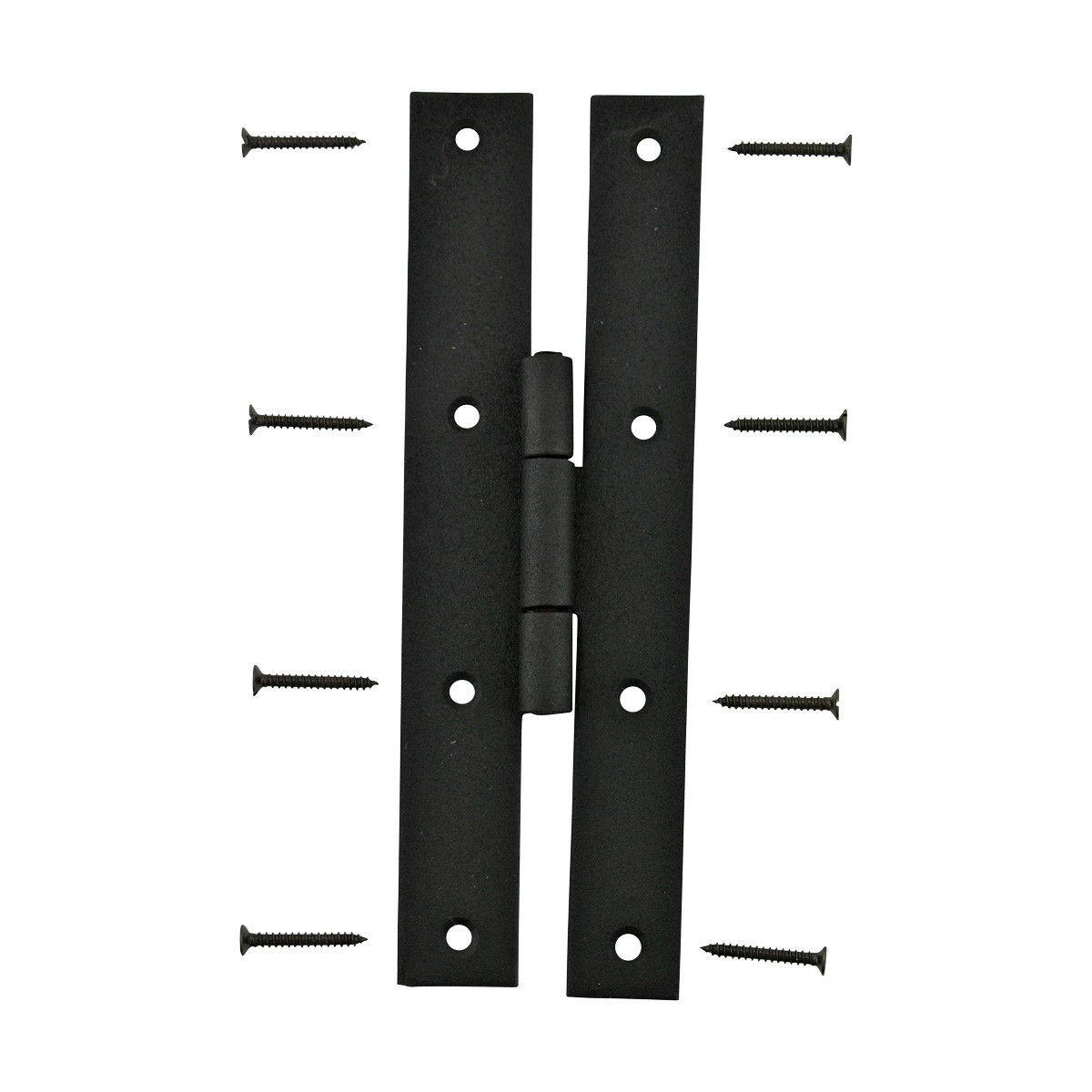 2 Forged Iron Door Flush Hinge H Style 7 H Door Gate Pantry Cabinet Wrought Iron H Hinge Flush Mount Flat Wrought Iron H Door Hinge Wrought Cast Forged Stamped Black Iron Door Hinge